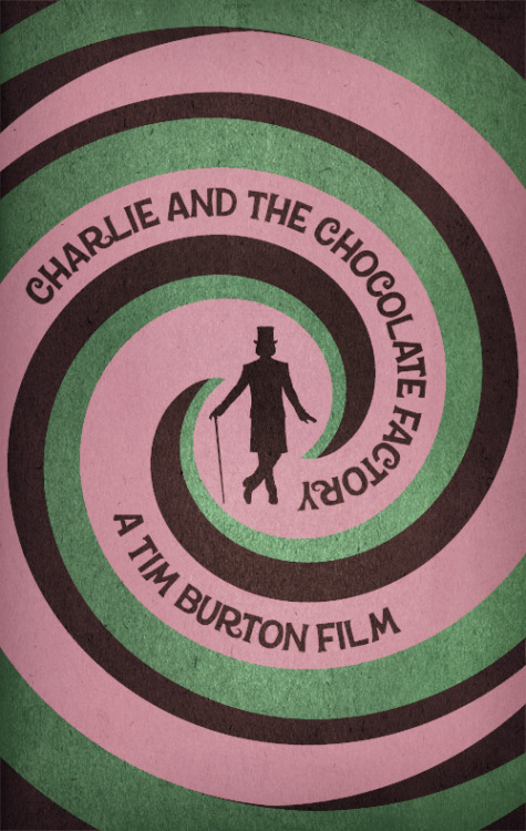 Charlie and the Chocolate Factory minimal poster on Minimal Movie Posters