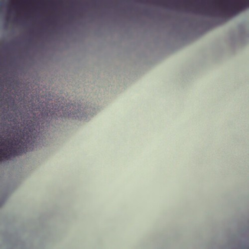 White bed sheets on a gray morning (Taken with Instagram)