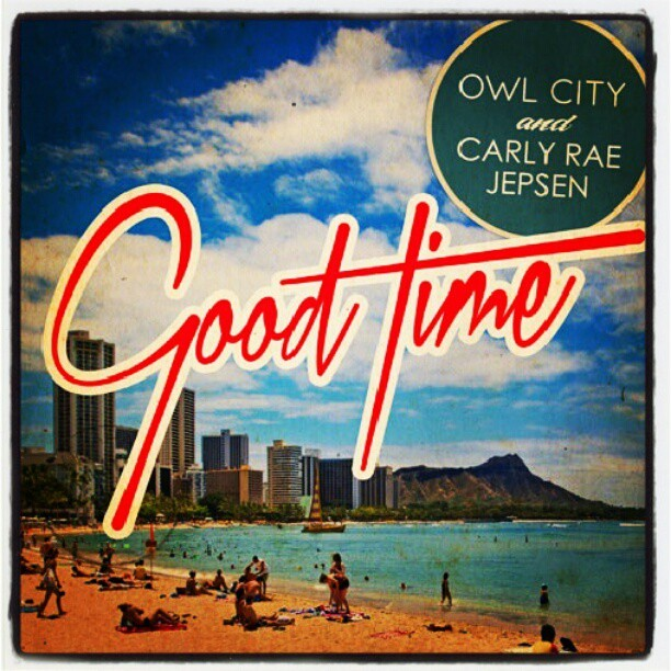 Amazing song! #good #time #carlyraejepsen #owlcity #adam #young #music #electronic #pop #feelgood #coverart #cd #single (Taken with Instagram)
