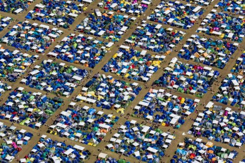 Roskilde Music Festival from above