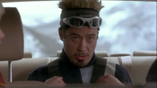 "RDJ as ""Hans"" in Friends and Lovers. [He and co-star Stephen Baldwin call each other BobbyD and StevieB]"
