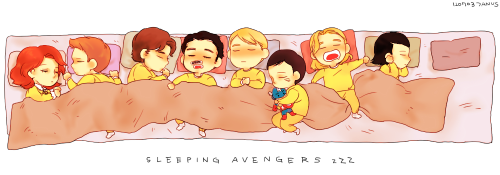 mllelanoire:   januarius-gates: ▼▼▼ Sleeping Baby Avengers  coulson NO