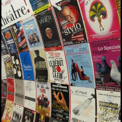Posters en Paris! (Taken with Instagram)