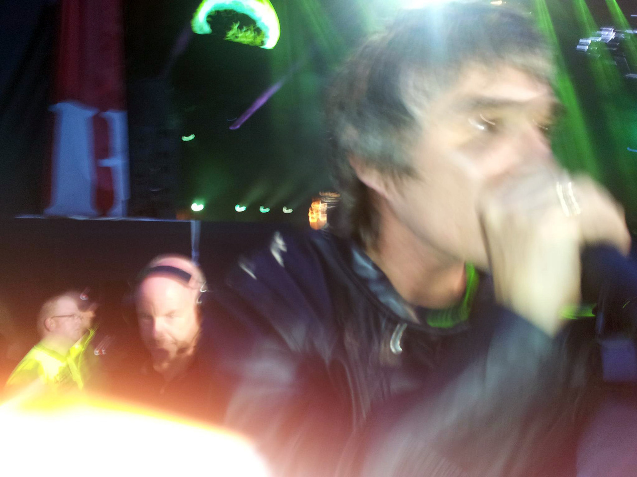 Ian Brown shaking my son's hand. The whole day seems like a bizarrely surreal intangible dream now. Mad.