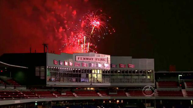 TV coverage sticking to real fireworks this year  CBS's national broadcast of Boston's Fourth of July celebration was criticized last year because historic buildings had been inserted into the fireworks video feed.