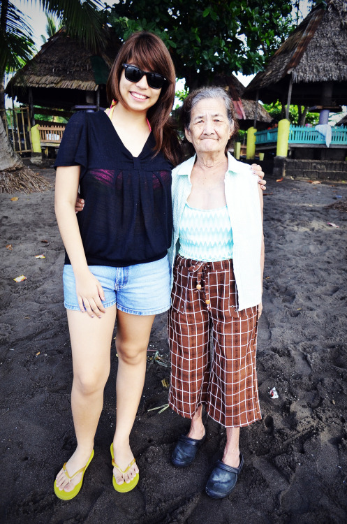 Grandma and me at the beach!  Taken about a month and a half ago. :)