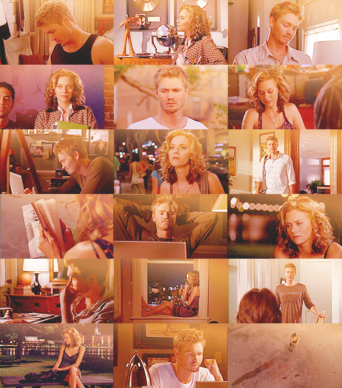 lucas & peyton: 5.01 ⇒ But even in his darkest hours, he knew in his heart that someday it would return to him, and his world would be whole again… And his belief in God and love and art would be re-awakened in his heart…