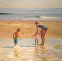 """It's Beach Time in New England"" by Celia Judge"
