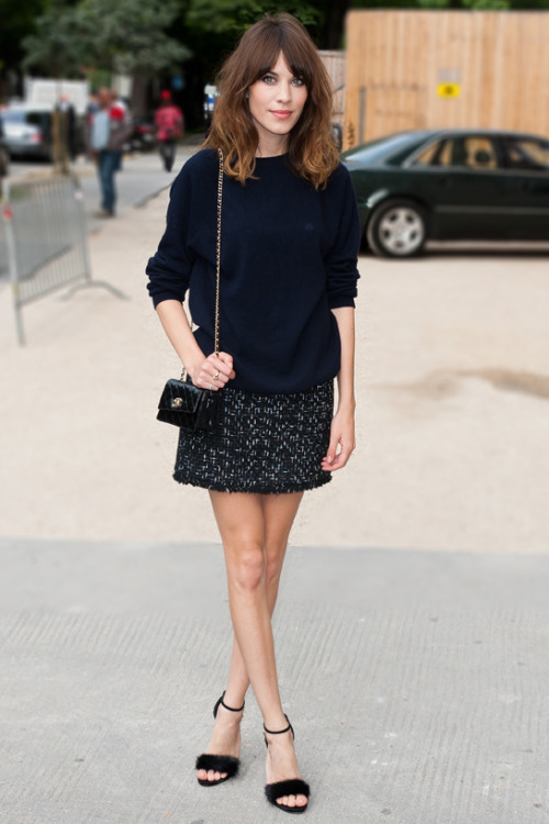 whitefoxes:  inspiration: alexa chung wearing chanel