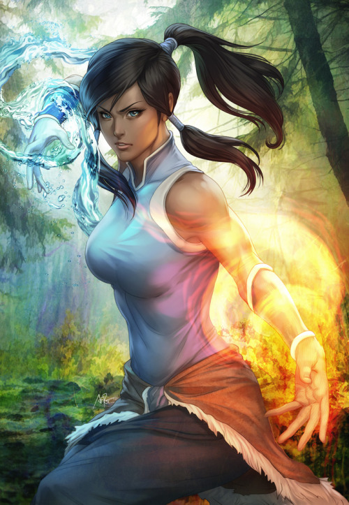 findingmiko:  Korra by Artgerm I really like his artworks!