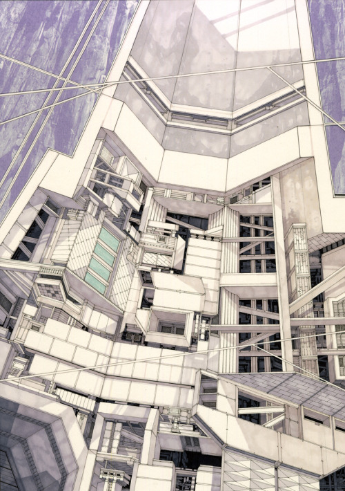 flashbackdandies:  infiniteinterior: Luke Pearson (via 86. The Draughtsman and the Delineator / Found Facilities - The Draftery)
