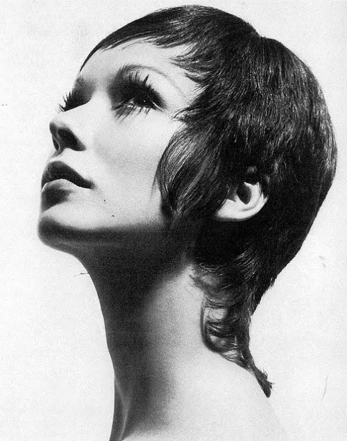 Maudie James with a short haircut, 1960s.