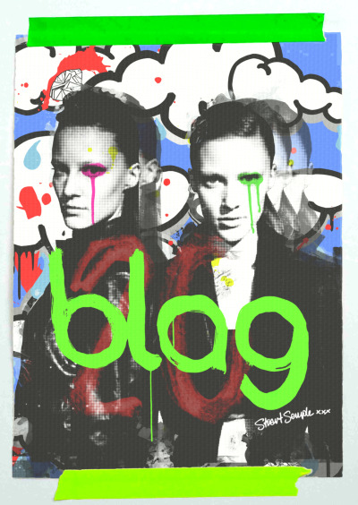 2012 | Matt Holyoak Vs. Stuart Semple for BLAG's 20th Anniversary Collectors Edition The lovely photographer, Matt Holyoak and Brit Artist extraordinaire, Stuart Semple have collaborated on a print of yours truly for our 20th Anniversary Collectors Edition. Click here to star in the edition. We are thoroughly enjoying the shots we've been sent so far! We have more exciting things cooking for the 20th Anniversary Edition, get involved! Thanks, Sally and Sarah (l-r)