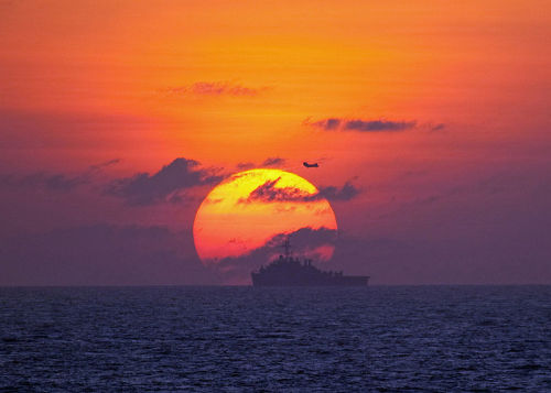 "Hardened lines in the South China Sea | Asia Times By Roberto Tofani Tit-for-tat moves by China and Vietnam represent the latest indication that tensions could break into conflict over contested and potentially resource rich maritime areas in the South China Sea.  Hanoi's National Assembly late last month overwhelmingly passed a law that effectively declared sovereignty over areas of the Spratly and Paracel Islands, including territories claimed by China. The law will come into force at the beginning of next year, leaving unclear how Hanoi plans to fortify its claim in what it refers to as the East Vietnam Sea.  The decision came in the wake of the publication of a short essay entitled ""Vietnam's sovereignty over Hoang Sa [Paracel] and Truong Sa [Spratly] Archipelagos"" by the National Political Publishing House, which gave historical evidence in support of Vietnam's claims.  FULL ARTICLE (Asia Times) Photo: U.S. Navy photo/ Cmdr. Ed Thompson"