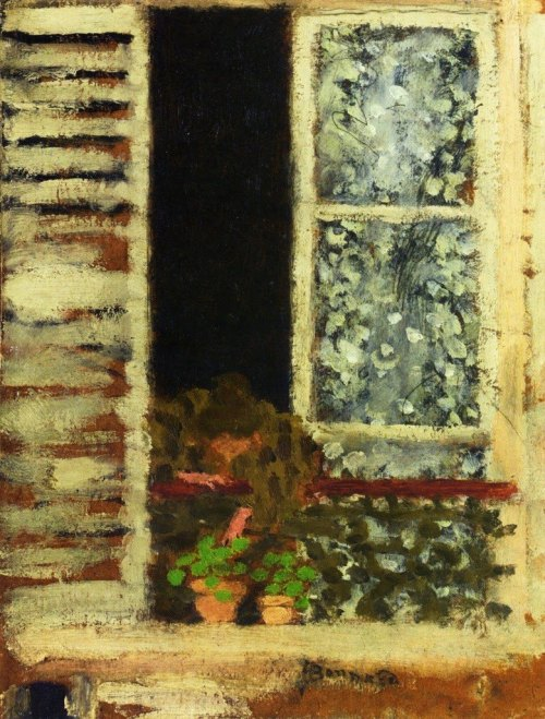 journalofanobody:  Pierre Bonnard, Woman at Her Window, 1895