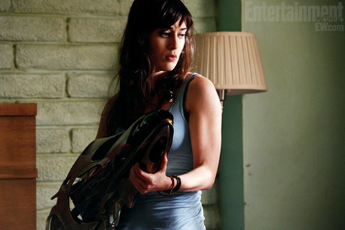 Marvel unveils top-secret 'Avengers' short film 'Item 47' Lizzy Caplan (Party Down, pictured) and Jesse Bradford (Flags of Our Fathers) star as a down-on-their-luck couple who find one of the discarded alien guns from the finale to The Avengers — and proceed to make some incredibly bad decisions.