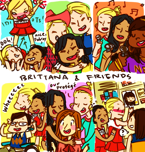 brittana and friends