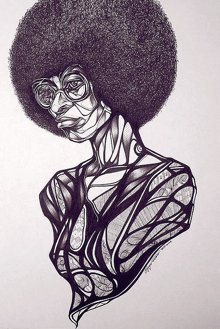 blackcurator:  Angela Yvonne Davis (Date Unknown) Toyin Odutola