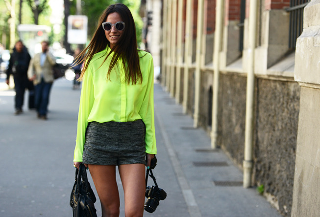 chicityfashion:  I <3 your neon
