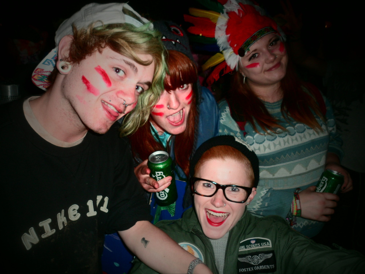 moi and the mandem at Beat herder festival 2012. Banging weekend.