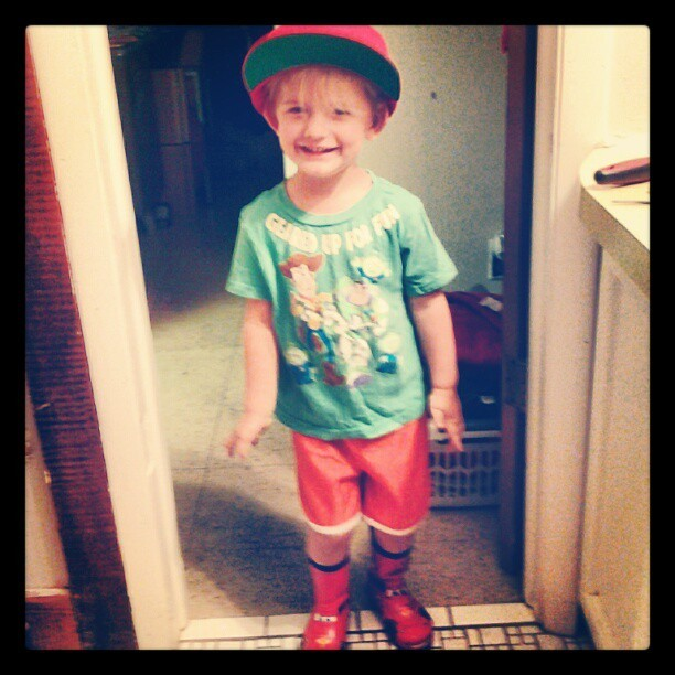 "He came in and said ""lookin fly!"" (Taken with Instagram at MommaBabaGabel's Home)"