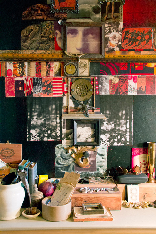 A collage of curiosities (via @designsponge).