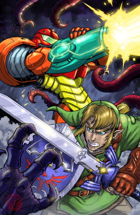 geeksngamers:  Samus and Link Team Up - by KaijuSamurai