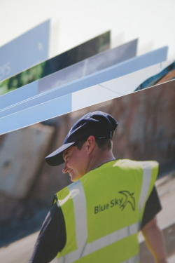 Annual Review Design Client: Blue Sky Development & Regeneration is a not-for-profit company established by the charity Groundwork Thames Valley. It was set up to give paid work to people coming out of prison, to enable them to move successfully into long-term employment. Scope: Annual review 2011, and various marketing communications. Copy writing, graphic design, photography, production and print handling. Design:  TTL Design