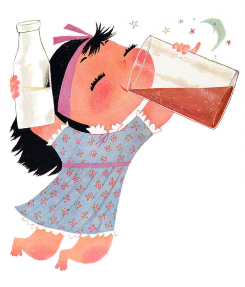 richters:  Chocomilk by Mary Blair  This is definitely how I feel about chocolate.milk