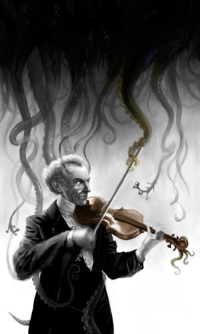 fckyeahhplovecraft:  Cyril van der HaegenThe Music of Erich Zann (Source: Tehegel.org)