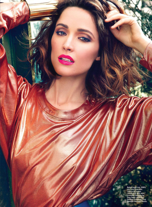 Rose Byrne in Balenciaga for Flare shot by Max Abadian