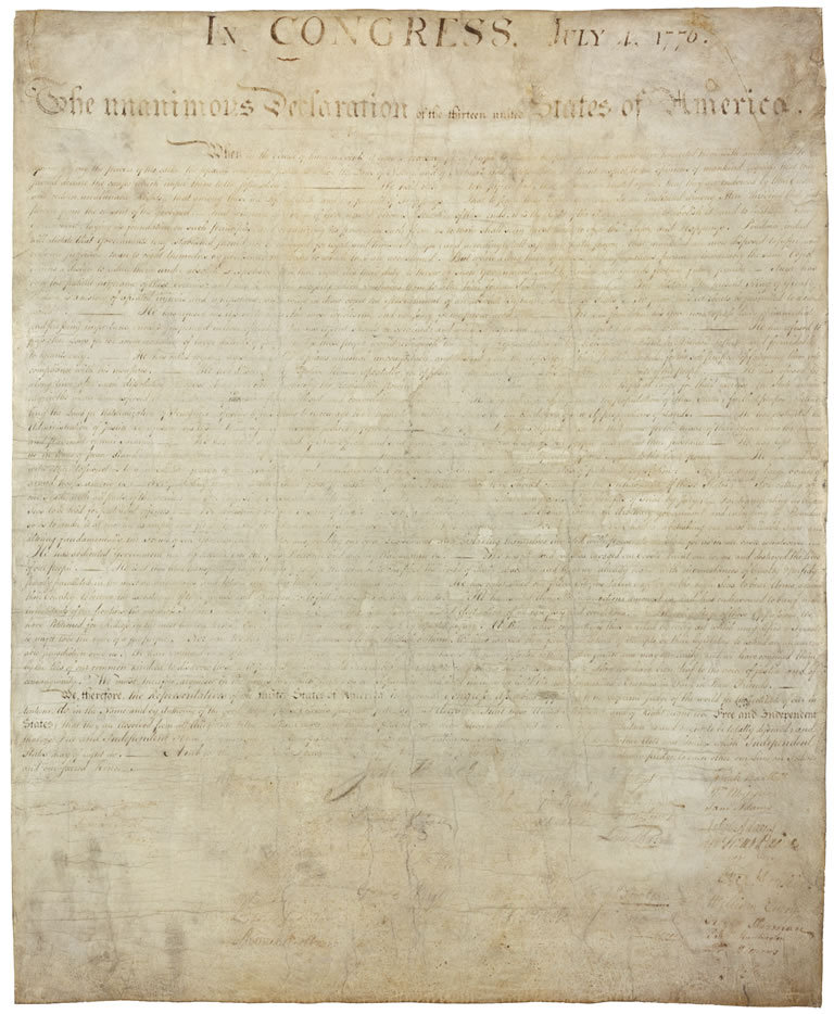Hear the Declaration of Independence read aloud at the National Archives on July 4! Join us at 10 am (details: http://go.usa.gov/vsE) and then go inside and see the original document on display.