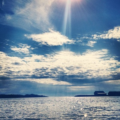 #cloudporn #clouds #blue #sky #water #sea #tranquility #travel #finland #åland  (Taken with Instagram at Eckerö Post & Tullhus)