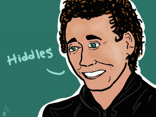 colferwishington:  First time drawing le Hiddles, he's got a weird eye and mouth but whatevs :3