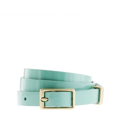 Aqua, patent leather, skinny belt… $37 J.Crew J Crew belt