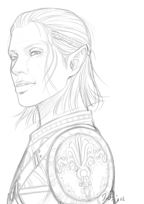 After finishing both Fenris and Anders, I wanted to draw Zevran, too. I had been meaning to draw all those three from the start (because they are, you know, my ultimate favourite trio, just if for some unexplainable reason someone didn't know already), but I didn't expect myself to begin with Zevran so soon after Anders. I don't know what to think of myself. So anyway, have a sketch to see where I'm going atm.