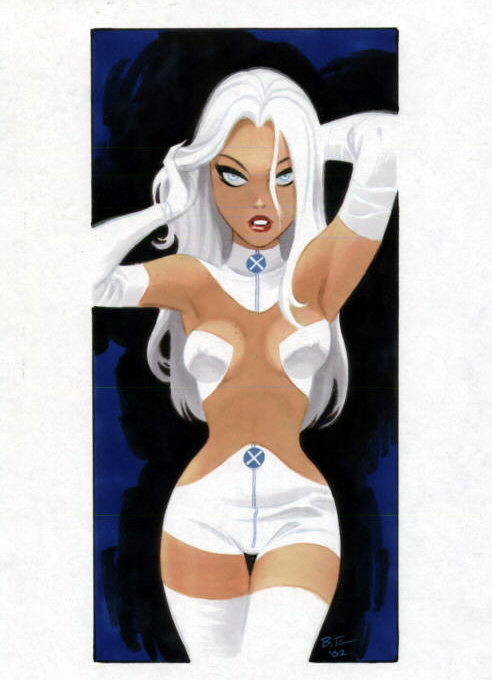 (via Geek Art: Emma Frost Pin-Up by Bruce Timm - News - GeekTyrant)