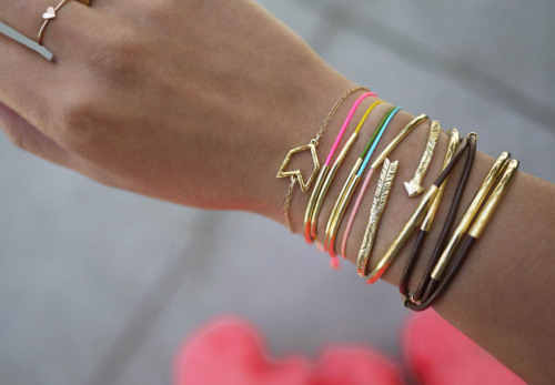 DIY Gold Tube Bracelets from Honestly WTF
