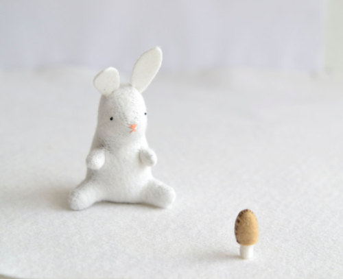 32flavors-:  The white rabbit bunny plush by royalmint by MountRoyalMint