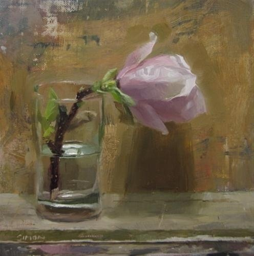 wasbella102:  Magnolia flower in a glass © simon shawn andrews