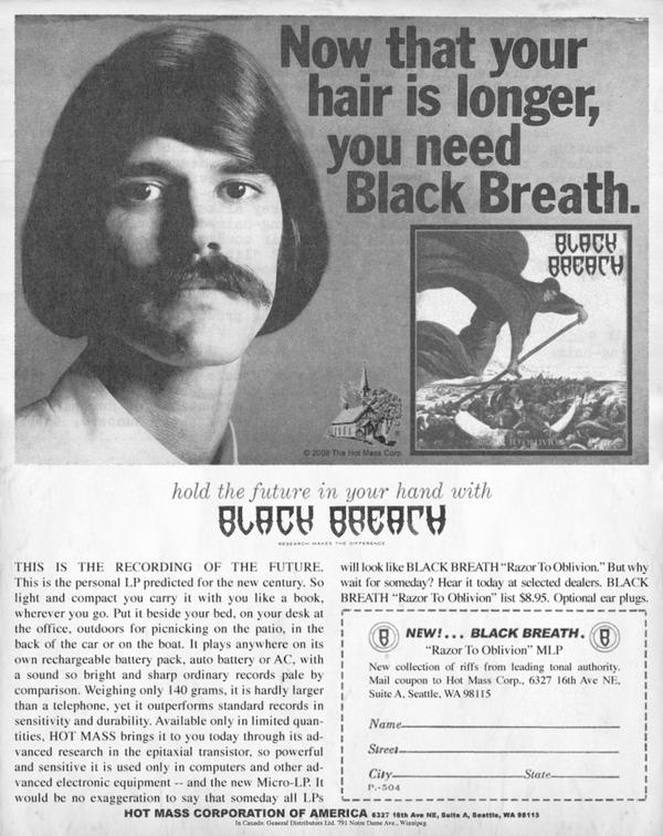 After having seen Black Breath live this weekend, we'd like to pass along this clipping. If you've had the chance to crank their latest Sentenced to Life to 11, be sure to tell your friends what you thought (if you can get your ears to stop ringing).