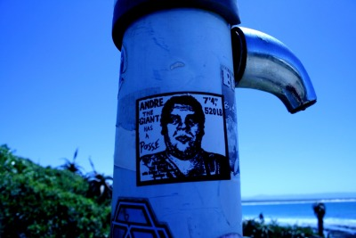 Is this an original Shepard Fairey?  Snapped in Jeffrey's Bay, ZA. Photo credit to my friend, Reghert van Zyl.  Follow his tumblr.