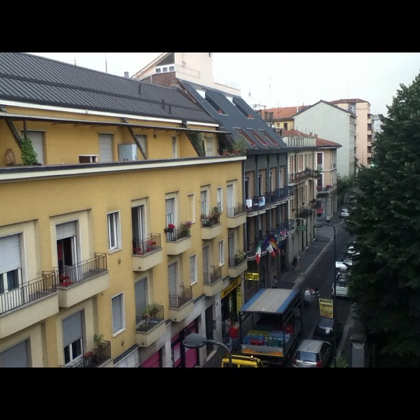 Street view from my apartment in #milan, #italy (Taken with Instagram at Milan, Italy)