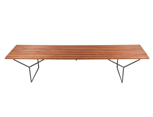 Harry Bertoia's bench, 1958 (Knoll International). Collector piece.