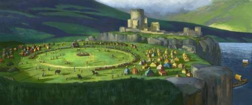 The Brave concept art: The Castle (via Ribelle – The Brave, i concept dell'ambiente e alcune curiosità sul film! | Il blog di ScreenWeek.it)