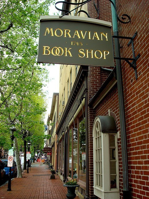 Moravian Book Shop, Bethlehem, Pennsylvania - founded in 1745 - the oldest bookstore in the US