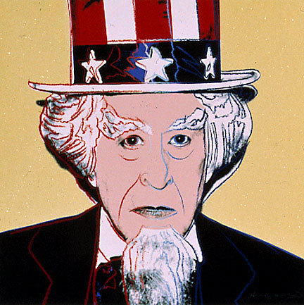 Happy Fourth of July! Uncle Sam by Scholastic Awards alum Andy Warhol. 1981.