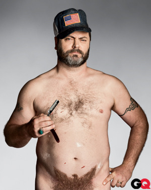 gq:  Nick Offerman's List of the 25 Most American Things You Can Do Today (That You Can't Do in Socialist Europe or Some Other Backwater)  reblogging because I can.