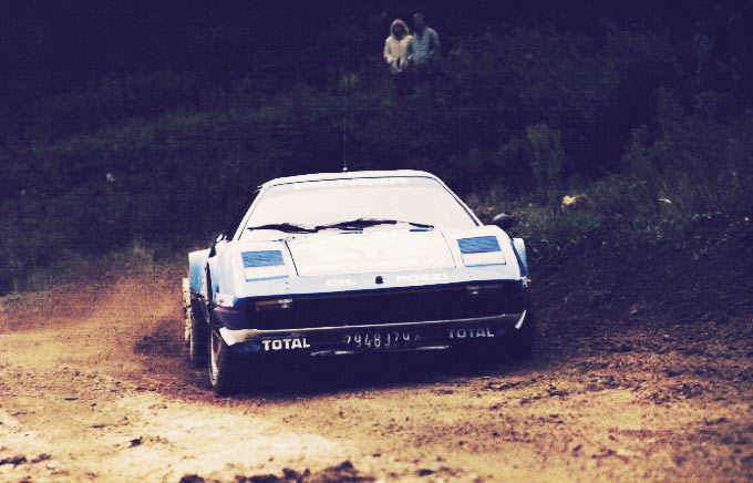 Rallying in a Ferrari 308 GTB - so 1980s.