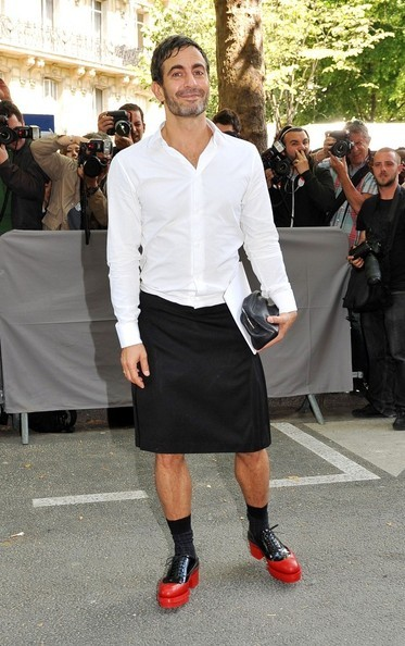 Marc Jacobs at the Christian Dior show in Paris.